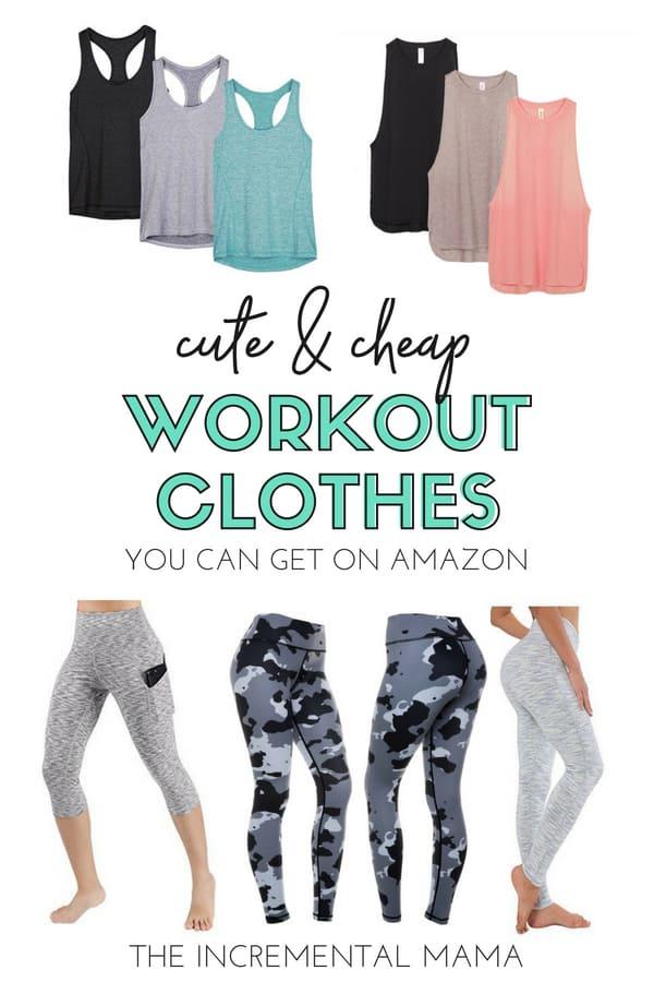 Cheap Workout Clothes for Women on Amazon #workoutclothes #cheap
