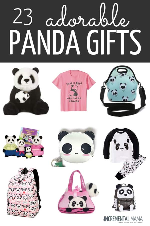 23 awesome panda gift ideas for kids who love panda bears. If you're looking for unique gift ideas for the panda lover in your life, check these out! #panda #pandagiftideas #giftideasforkids