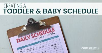 toddler and newborn schedule