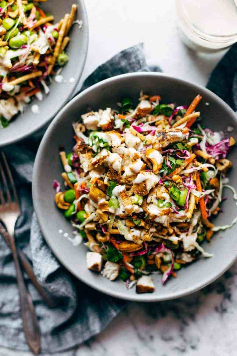 cashew crunch salad - healthy summer salad recipe