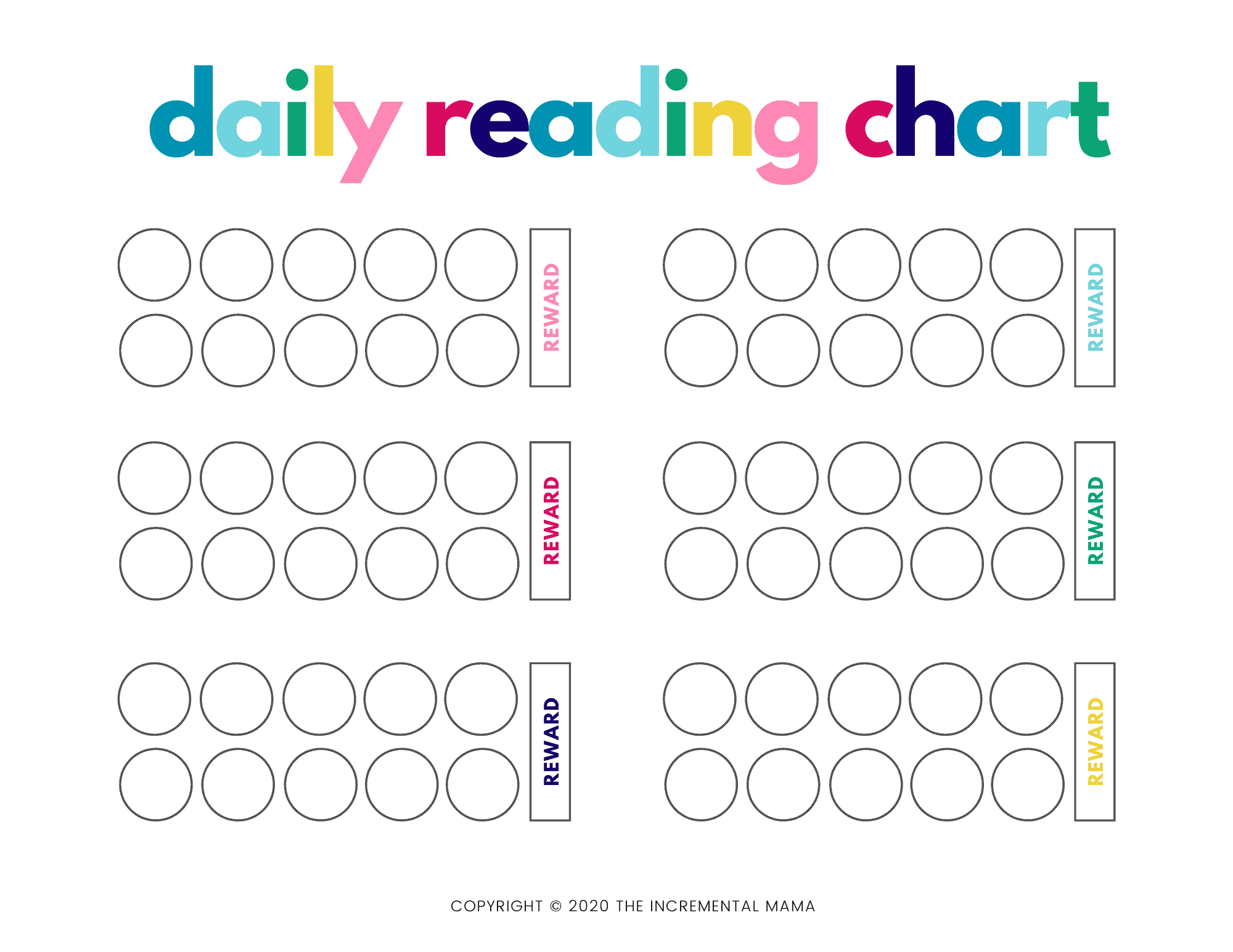 This is a photo of Reading Chart Printable with regard to incentive