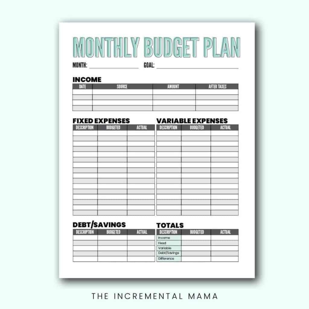 Free Blank Budget Worksheet Printables To Take Charge Of