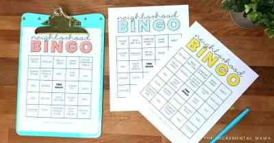 neighborhood bingo printable
