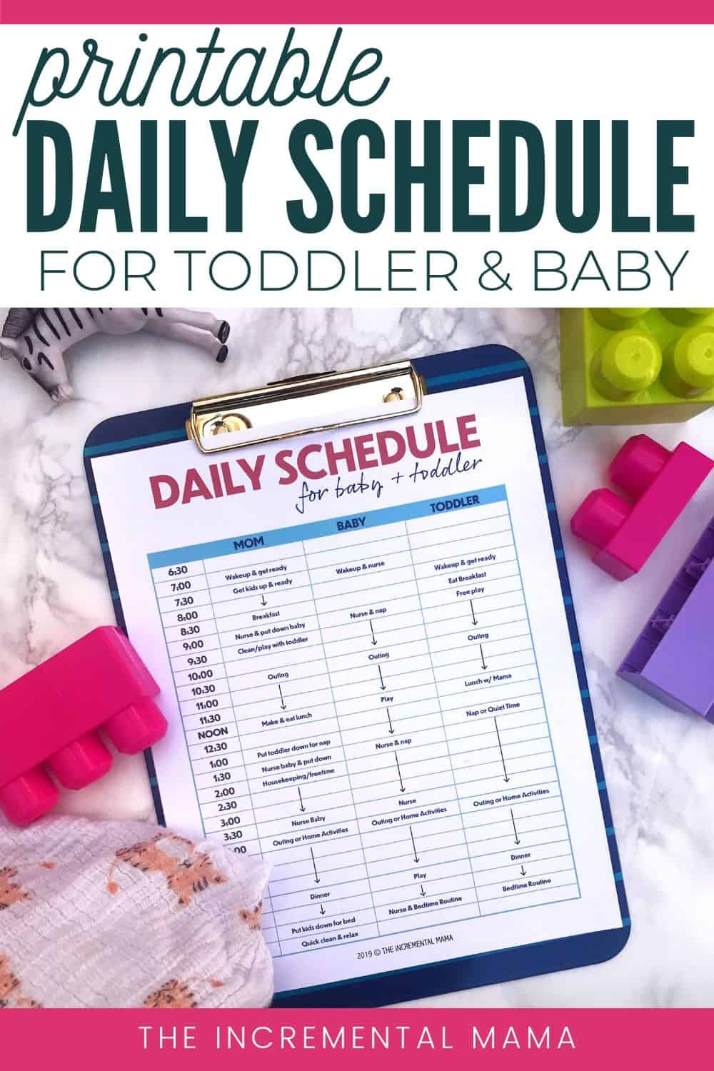stay-at-home mom daily schedule for toddler and baby