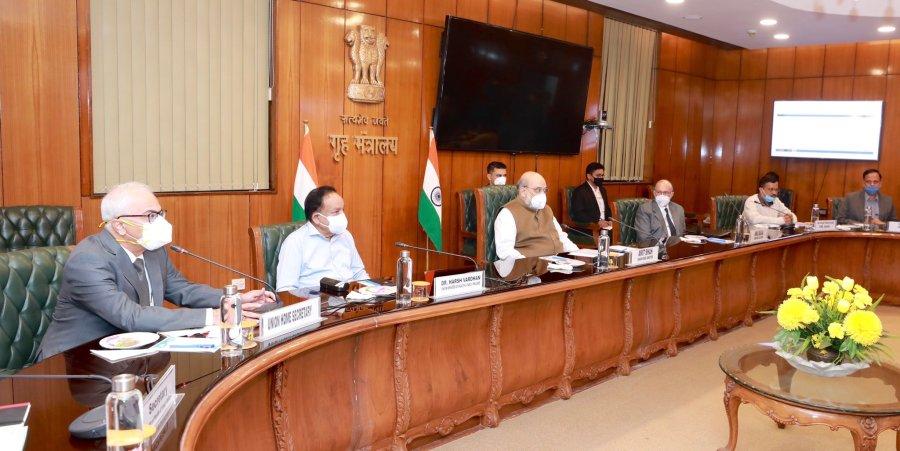 Union Ministers Amit Shah Dr Harsh Vardhan Delhi Covid19
