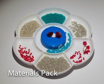 SOLD OUT - Silver, Scarlet & Turquoise Materials Pack