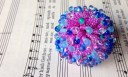Anemone beaded bead by the Indecisive Beader