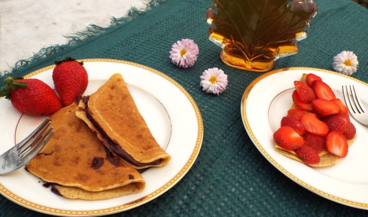 healthy almond crepes oatmeal easy strawberry dessert