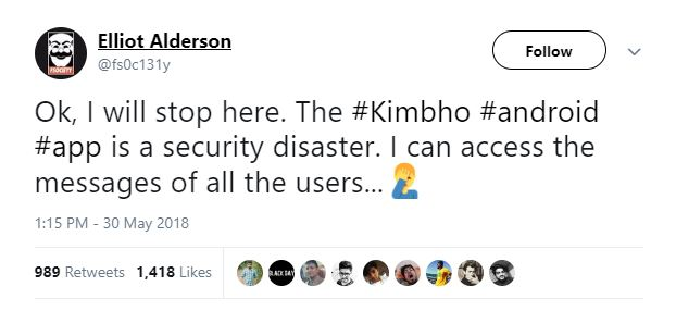 Kimbho app deleted from playstore