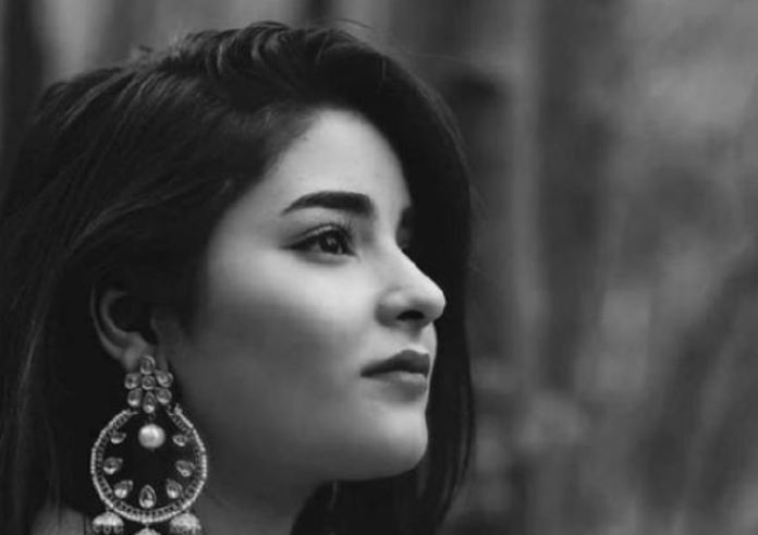 Zaira wasim black n white
