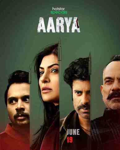 aarya hotstar special poster with the four lead characters