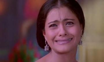 kajol making a cringy face showing struggles of being clumsy