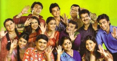 in photo the whole star caste of the indian tv show baa bahoo aur baby