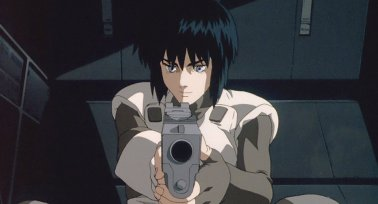 in picture character from the anime movie ghost in the shell