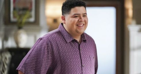 in photo the character manny delgado from the tv show modern family