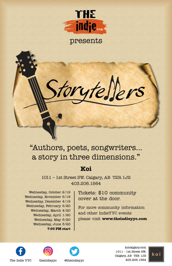The Indie YYC Storytellers 2019 -2020 season