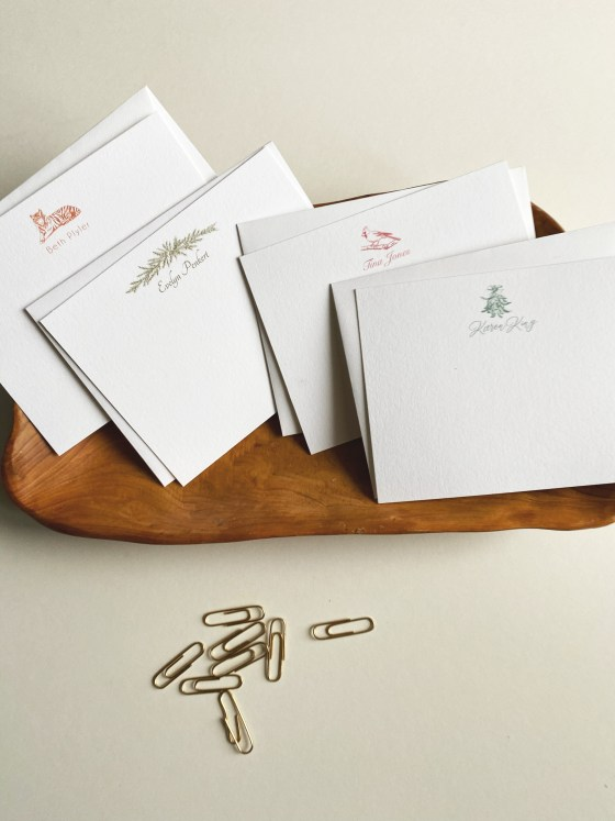 set of note cards