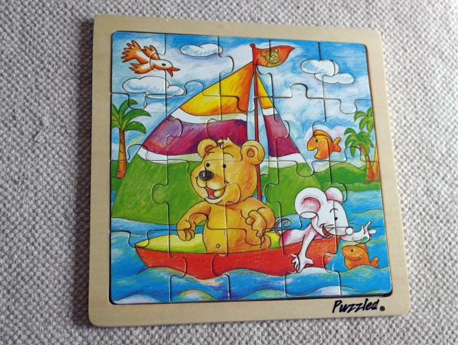 Sailing Bear in it's frame.