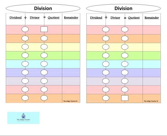 Indigo Teacher Division Pages