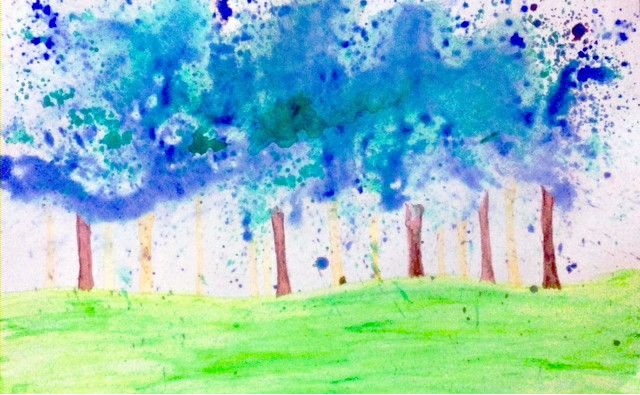 waldorf, waldorf art, waldorfish, watercolor for beginners, waldorf watercolor for beginners, watercolor forest, magical forest, enchanting forest