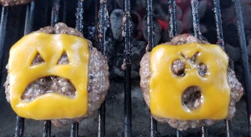 jack-o-lantern burger, halloween treats, homemade halloween food, cooking with kids