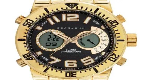 Sean John Unveils Analog-Digital Chronograph Watch Billboard in New York's Times Square