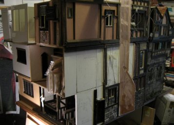 theinfill - Medieval, Tudor, Jacobean dolls house blog - the frontage layout