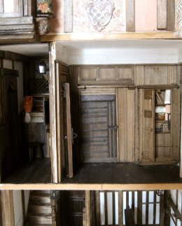 Strong-room removable wall/office back wall - theinfill doll's house blog - Medieval, Tudor and Jacobean