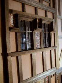 theinfill Medieval, Tudor, Jacobean 1:12 dolls house blog - the infill dolls house blog – external works on 4th wall of bedroom