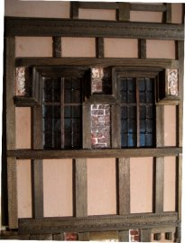 theinfill Medieval, Tudor, Jacobean 1:12 dolls house blog - the infill dolls house blog – external works on 4th wall of bedroom awaiting a clean-up