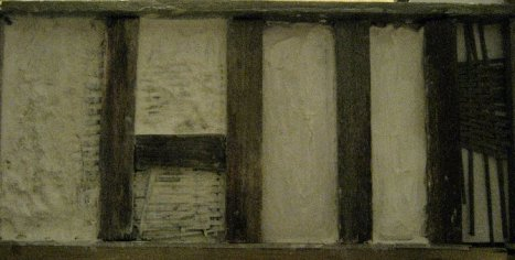 theinfill Medieval, Tudor, Jacobean 1:12 dolls house blog - the infill dolls house blog – wall after second coating