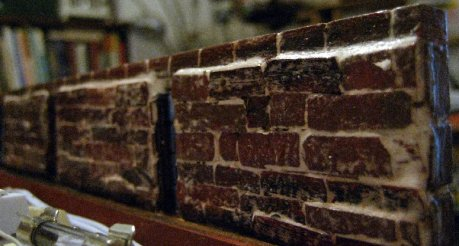 theinfill Medieval, Tudor, Jacobean 1:12 dolls house blog - the infill dolls house blog – view of back of brick panels