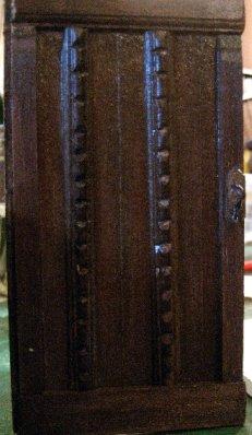 theinfill Medieval, Tudor, Jacobean 1:12 dolls house blog - the infill dolls house blog – cardboard door trimmed with various stripwood