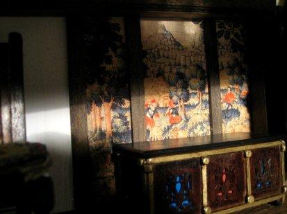 theinfill Medieval, Tudor, Jacobean 1:12 dolls house blog - the infill dolls house blog – wall panel in Red bedroom