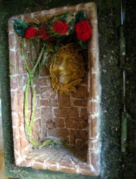 theinfill Medieval, Tudor, Jacobean 1:12 dolls house blog - the infill dolls house blog – embroidered roses in left side small wooden box