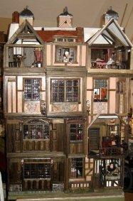 theinfill Medieval, Tudor, Jacobean 1:12 dolls house blog - the infill dolls house blog – 3 shapes full frontage of house