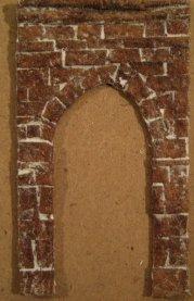 theinfill Medieval, Tudor, Jacobean 1:12 dolls house blog - the infill dolls house blog – egg box stone archway on 1 mm card