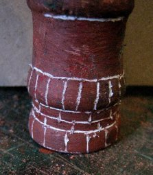 theinfill Medieval, Tudor, Jacobean 1:12 dolls house blog - the infill dolls house blog – Romney Miniatures type 1 crown pot painted and scratched