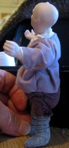theinfill Medieval, Tudor, Jacobean dolls house blog - theinfill dolls house blog – shaping the clothes for 1:12 doll