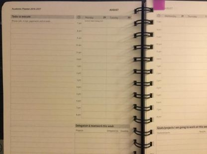 Action Day Planner inside