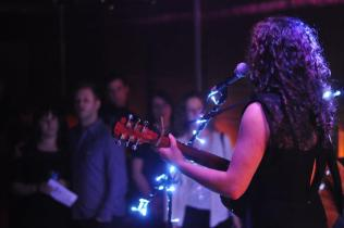 Crissi and the crowd (EP Launch Party 13th April 2013)