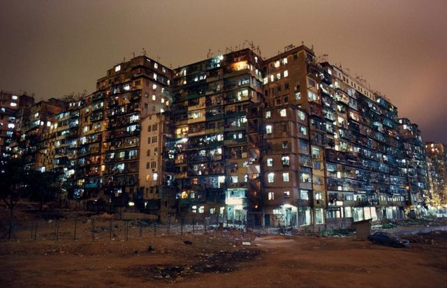 Night View of Kowloon Walled City