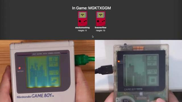 These hackers managed to play the original Game Boy over an internet connection.