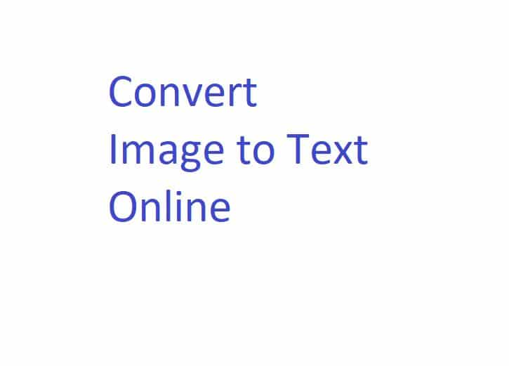 convert image to text