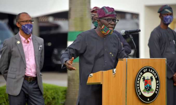 Moments Gov. Babajide Sanwo-Olu rocked locally made facemasks (Photos) 3