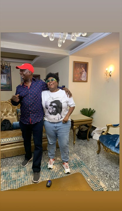 B8A70602 09E2 4550 AA7C 4F472DA533CA - Singer Teni celebrates with Ned Nwoko and Regina on his birthday in their Abuja mansion (Photos)