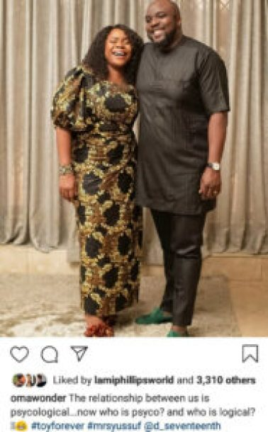 """""""I usually don't do this"""" Omawumi says as she shares rare photos of her husband and their kids"""