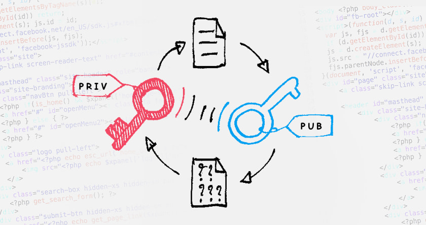 public address-private-key-illustration