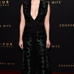 Jessica Chastain Bares Chest in Alexander McQueen Couture