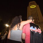 Los Angeles lights up City Hall with Batman signal